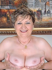 Lusty grandmother is sucking..